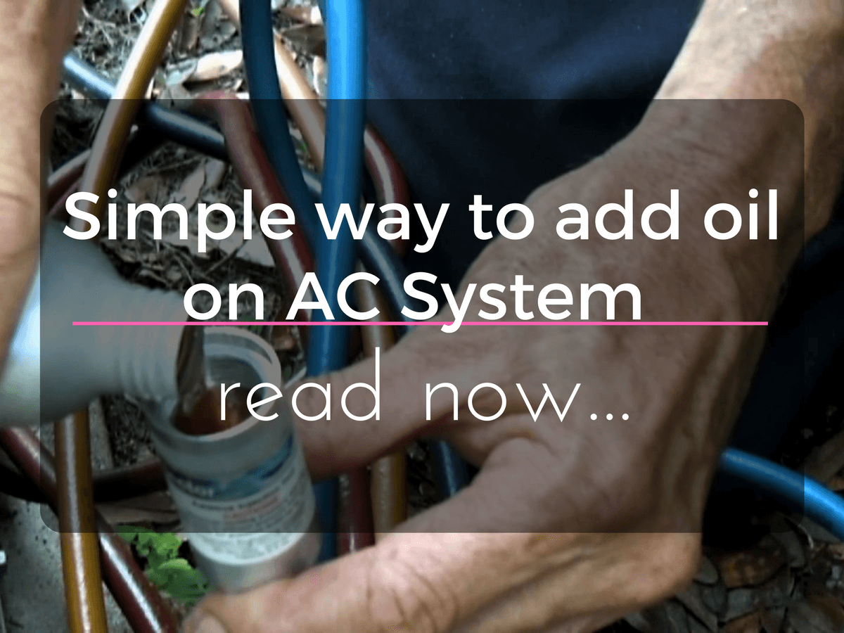 Add Oil on AC System Using Simply an Oil Injector