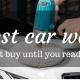 the Best Car Wax