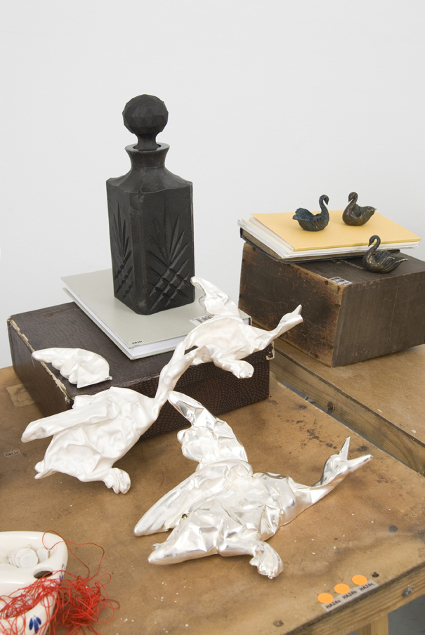 flying ducks/whiskey decanter - Installation view