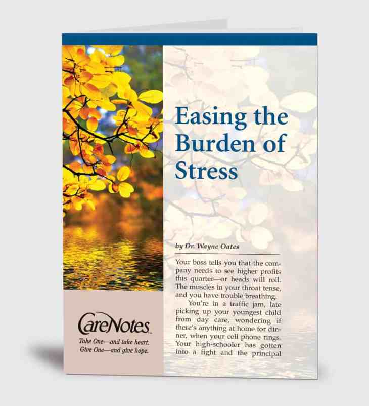 Easing the Burden of Stress