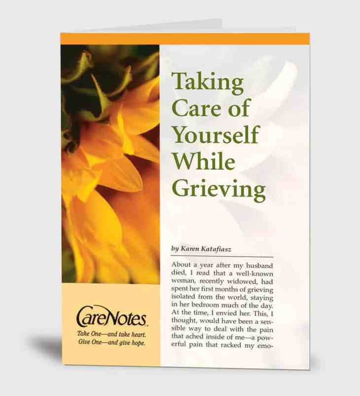 Taking Care of Yourself While Grieving