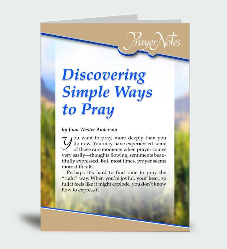 Discovering Simple Ways to Pray