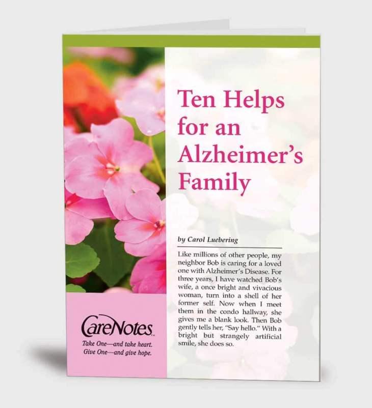 Ten Helps for an Alzheimer's Family