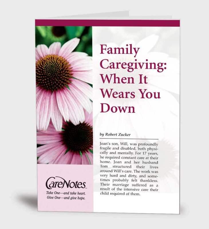 Family Caregiving:  When It Wears You Down