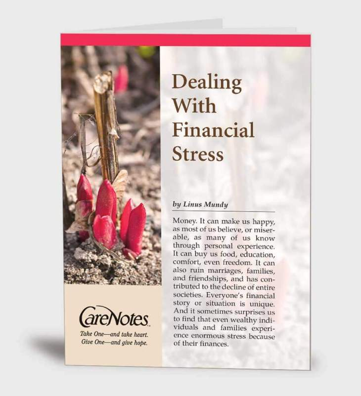Dealing with Financial Stress