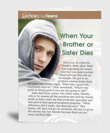 When Your Brother or Sister Dies