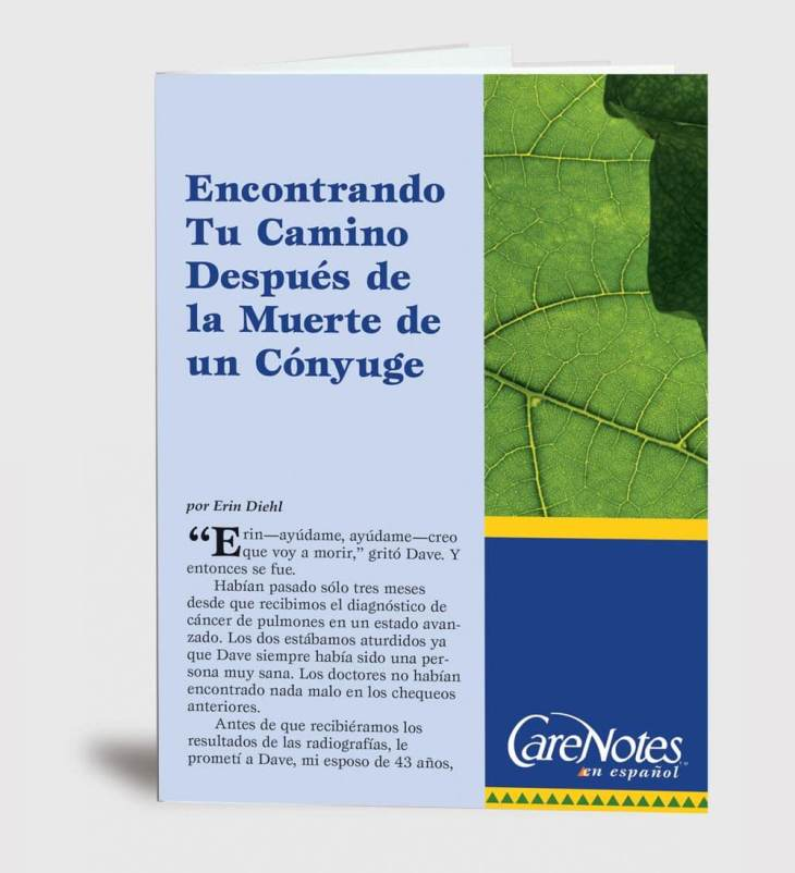 Finding Your Way After the Death of a Spouse Spanish Version