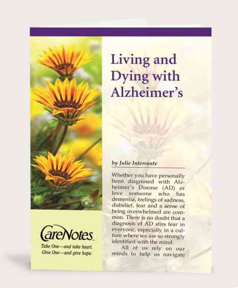 Living and Dying With Alzheimer's