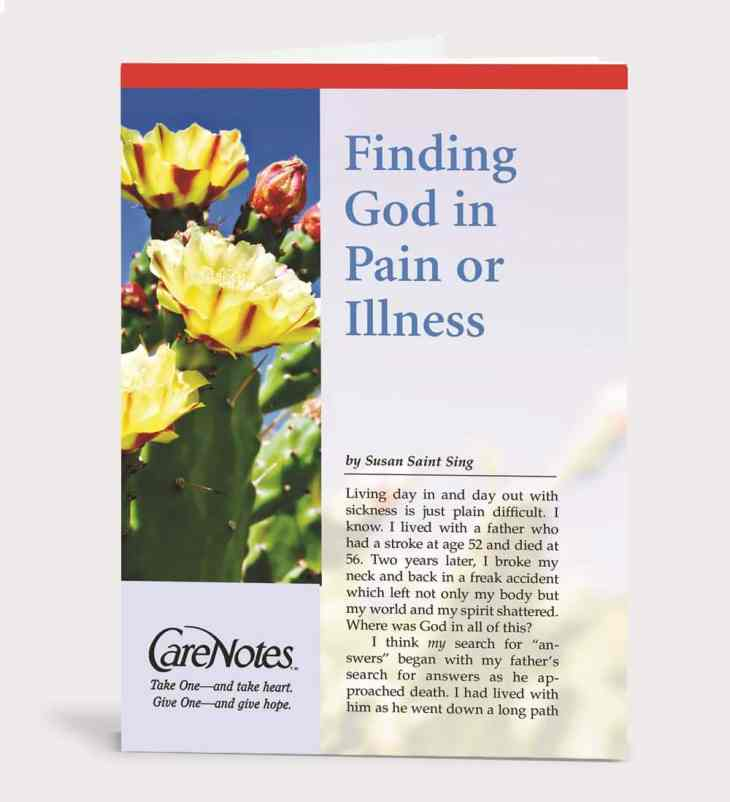 Finding God in Pain or Illness
