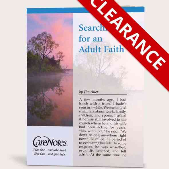 Searching for an Adult Faith