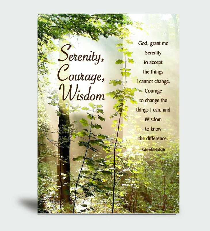 Serenity, Courage, Wisdom CareCard with Bookmark