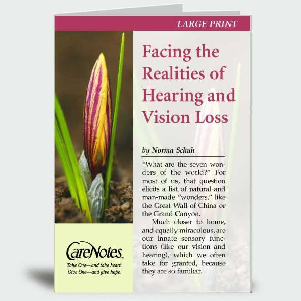 Facing the Realities of Hearing and Vision Loss – Large Print Edition