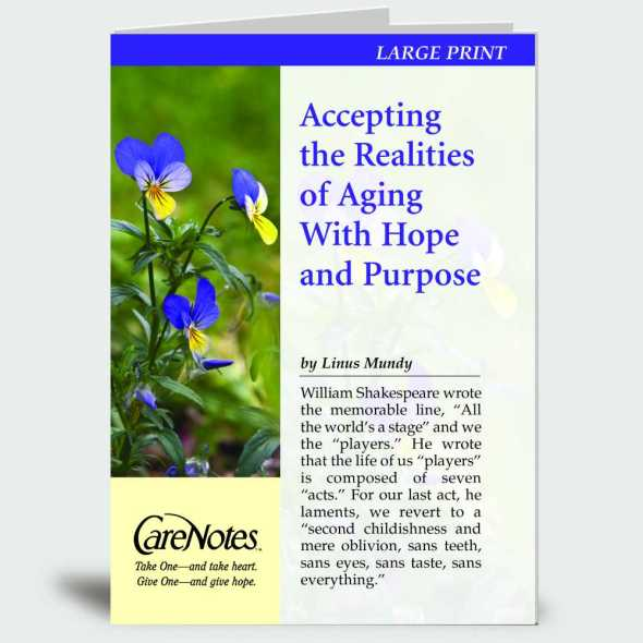 Accepting the Realities of Aging With Hope and Purpose – Large Print