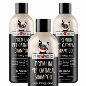 Pet Oatmeal Anti-Itch Shampoo & Container in one