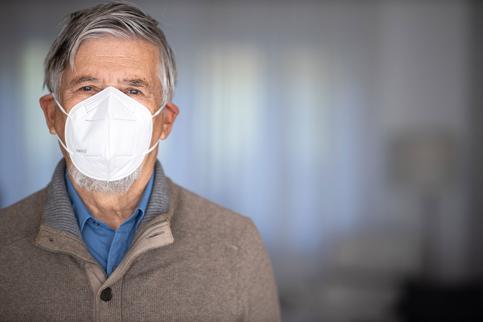 Senior Wearing Medical Facemask | Protect Seniors with CareSafely