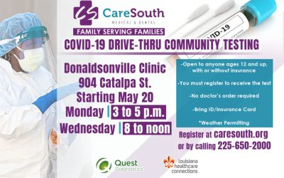 CareSouth opens COVID-19 Drive-thru Community Testing site in Donaldsonville