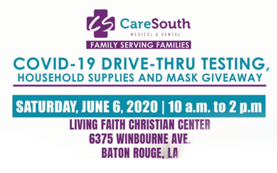 CareSouth, Rep. Denise Marcelle, Community Partners offering COVID-19 Drive-thru Community Testing, Household supplies giveaway, Saturday, June 6