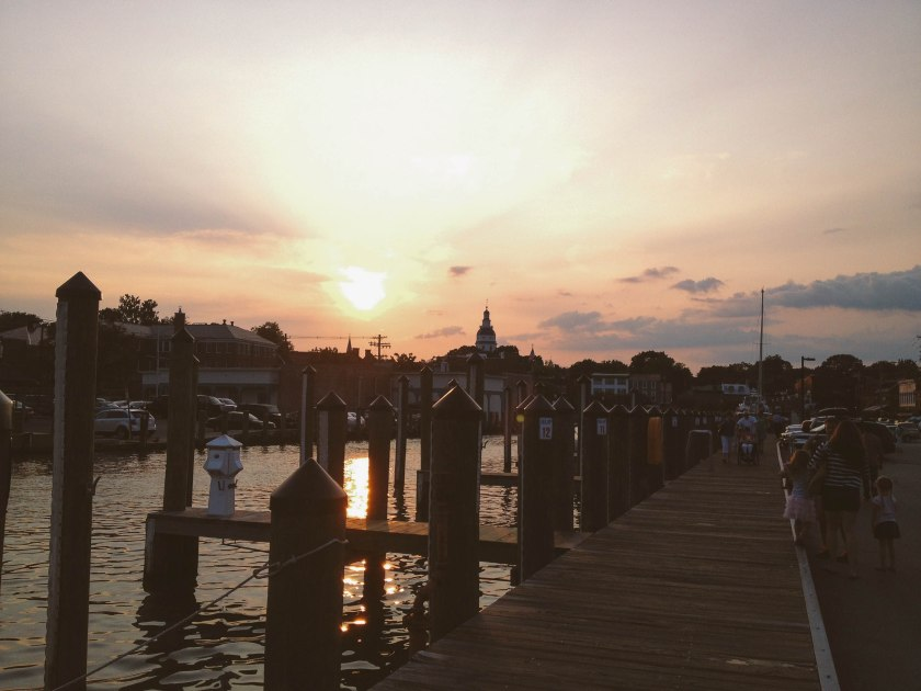 Annapolis City Dock sunset