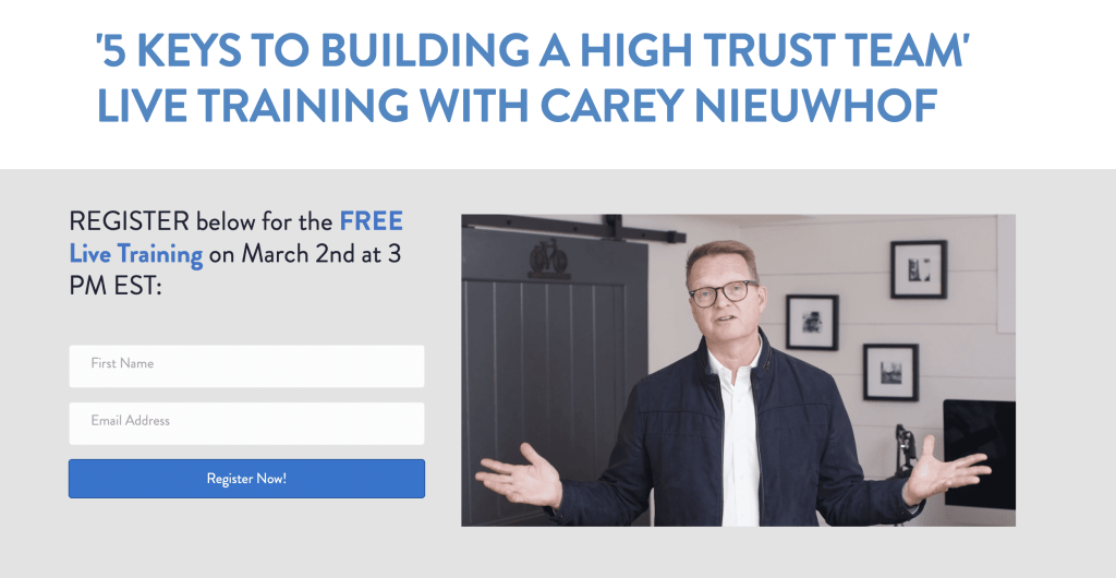 register for a free live training
