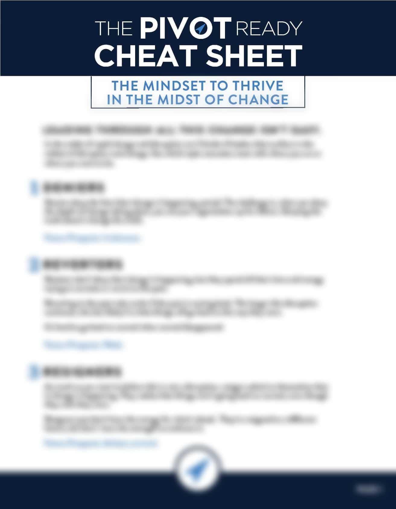 The Pivot Ready Cheat Sheet