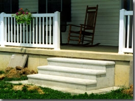 Precast Steps Carey Precast Concrete Co Carey Precast Concrete Co | Replacing Concrete Steps With Wood | Stringers | Stair Railing | Composite Decking | Pouring Concrete | Concrete Slab