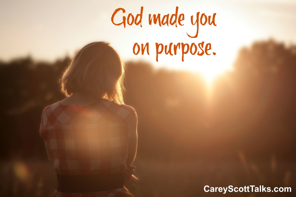 God made you on purpose