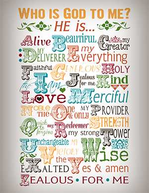 Who is God To Me Printable
