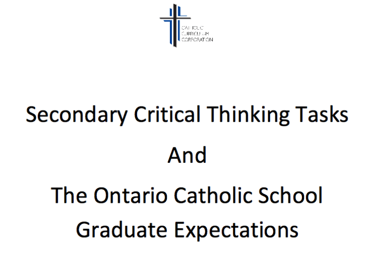 Secondary Critical Thinking Tasks and the OCSGEs