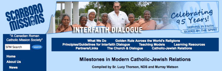 Milestones in Modern Catholic-Jewish Relations