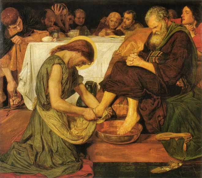 Jesus Washing Peter's Feet by Ford Madox Ford. https://commons.wikimedia.org/wiki/File:Jesus_washing_Peter's_feet.jpg