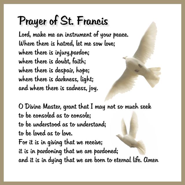 prayer of st francis carfleo