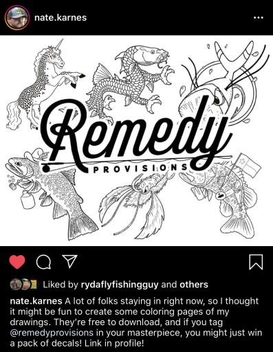 Nate Karnes and remedy provisions free quarantine coloring fun contest art
