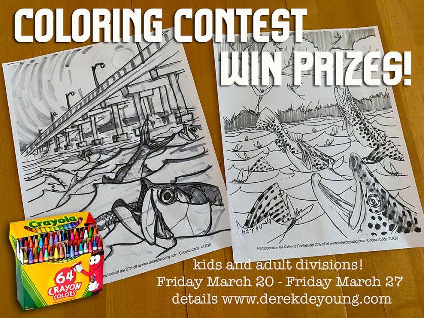 Derek DeYoung coloring contest