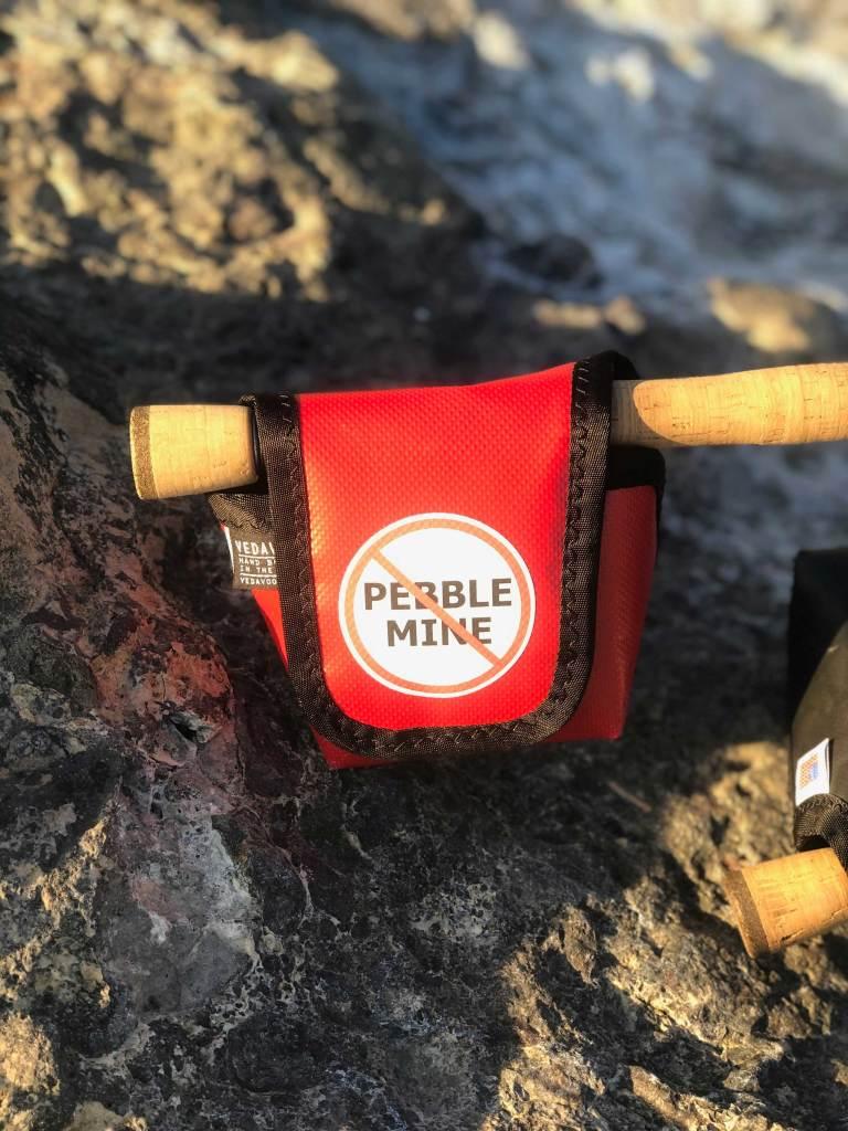 Special Edition No Pebble Mine Vedavoo No Kink Reel Case. Save Bristol Bay!