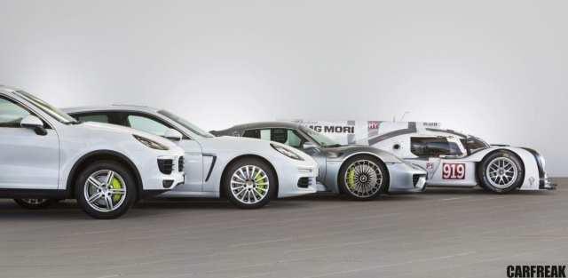 Porsche hybrid range