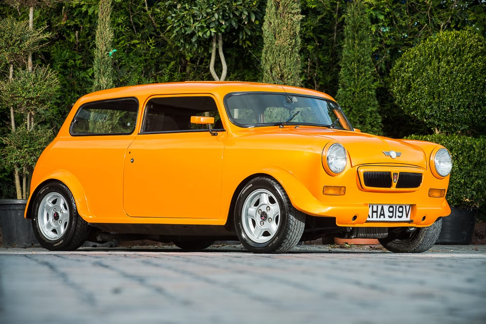 A 1990 customised Mini 'Orange Crush'