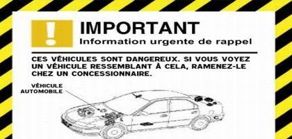 Information urgente de rappel