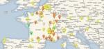 La carte des ateliers de L'Heureux Cyclage: une invitation au voyage
