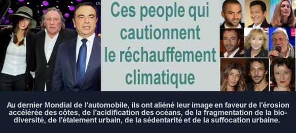Ces people qui cautionnent le réchauffement climatique