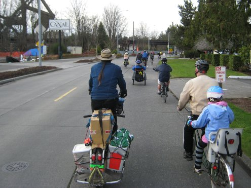 Cargo Riding down to Golden Gardens past the Locks