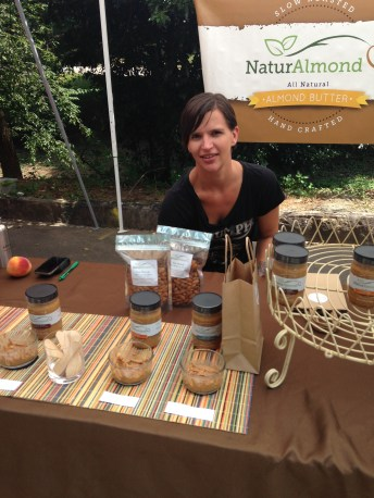 Almond butter at the Grant Park Farmersmarket