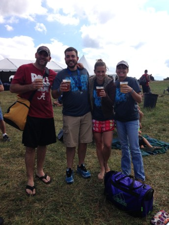 Well deserved beer after the race