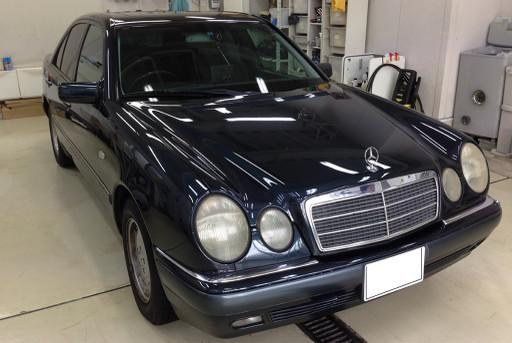 平成11年式M.Benz W210にコーティングを施工する前