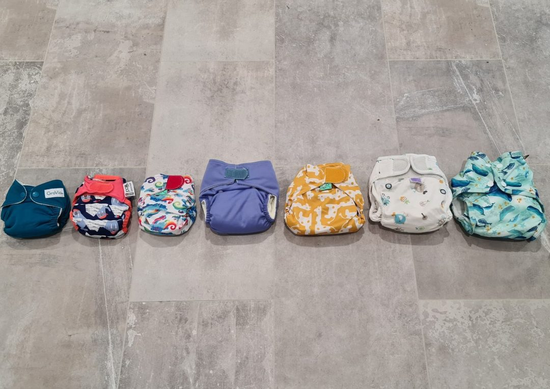 Derby sling cloth nappy library newborn nappies