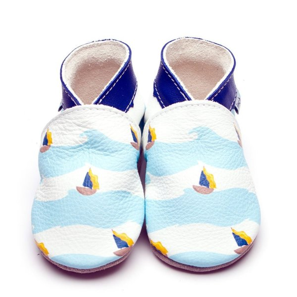 sailboat print inch blue