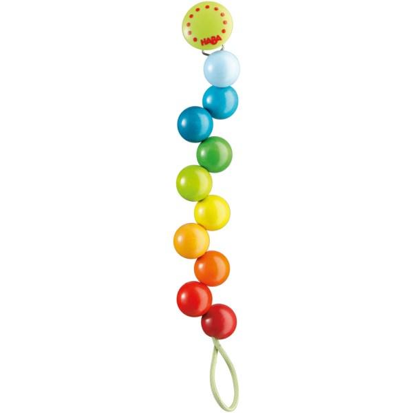 multi colour rainbow dummy clip