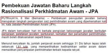 Rakyat Malaysia Hilang Kerja