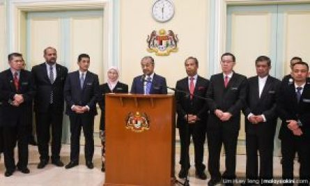 keputusan mesyuarat kabinet pertama 2018
