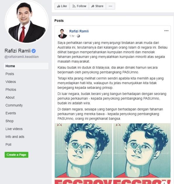 "Rafizi: Penyokong UMNO, PAS Maki""Egg Boy"" Kalau Duduk Malaysia"