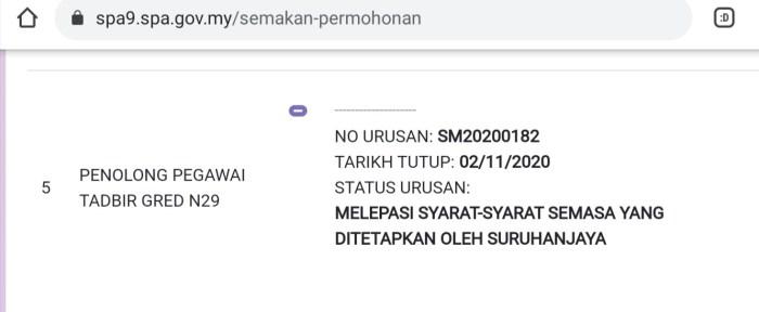 Rujukan Peperiksaan Penolong Pegawai Tadbir N29 2021